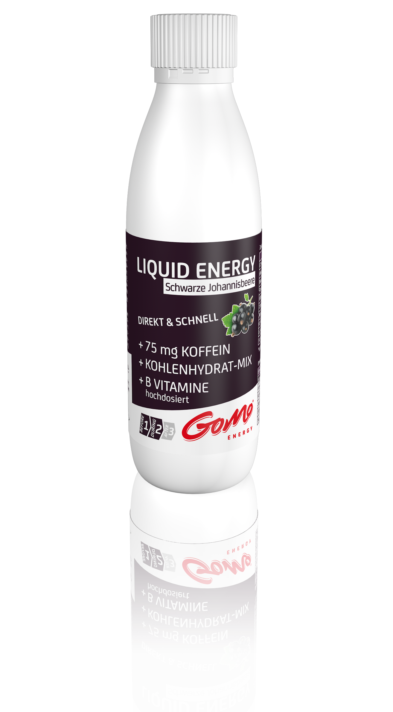GoMo ENERGY Sports drink energy shot caffeine high doses vitamin b zinc magnesium