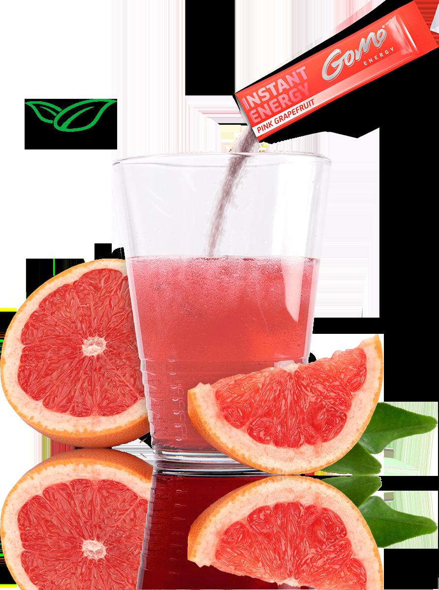 GoMo ENERGY gegen Müdikgkeit low carb zuckerfrei sportgetränk konzentration focus mehr ausdauer mehr kraft Energie Getränk Energy Drink Pink Grapefruit