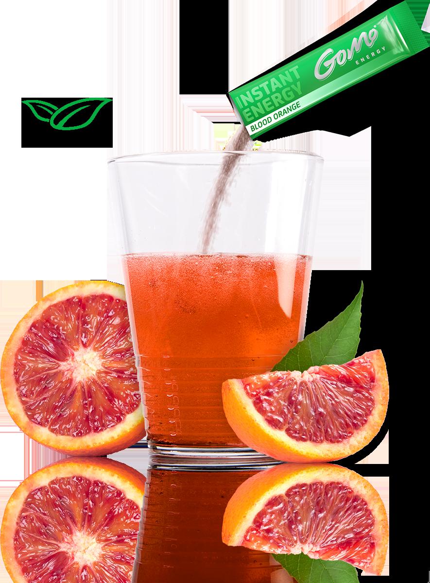 Blood OrangeGoMo ENERGY gegen Müdikgkeit low carb zuckerfrei sportgetränk konzentration focus mehr ausdauer mehr kraft Energie Getränk Energy Drink
